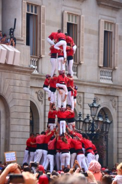 castells in Barcelona for Fiesta de merce